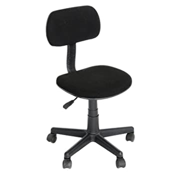Yanyan - Silla de oficina (45 x 39,5 x 73-84,5 cm), color negro