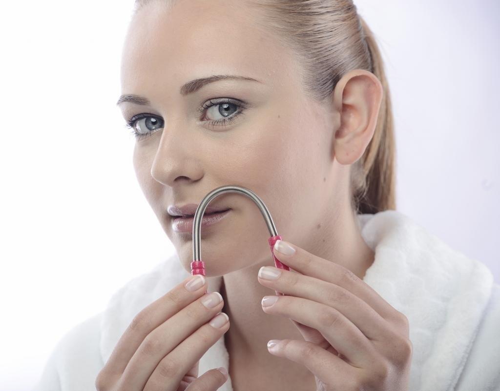 eyebrow threading tool. amazon.com : facial hair remover threading beauty tool (set of two) epilators eyebrow
