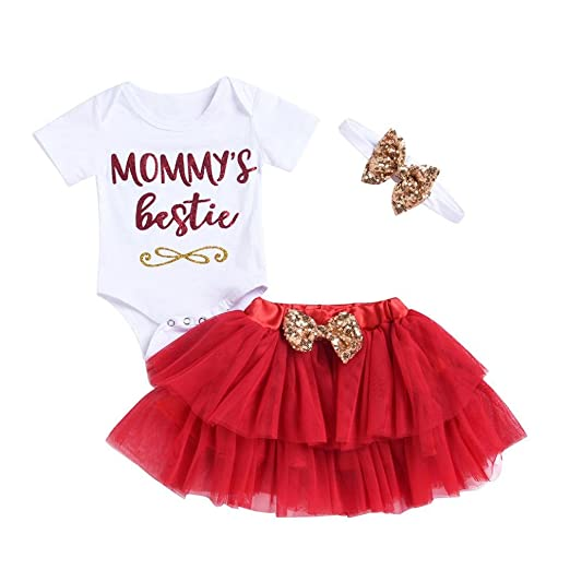 79e817866 Amazon.com  iumei Twins Outfits for Baby Girls 0-18 Months Old Short ...