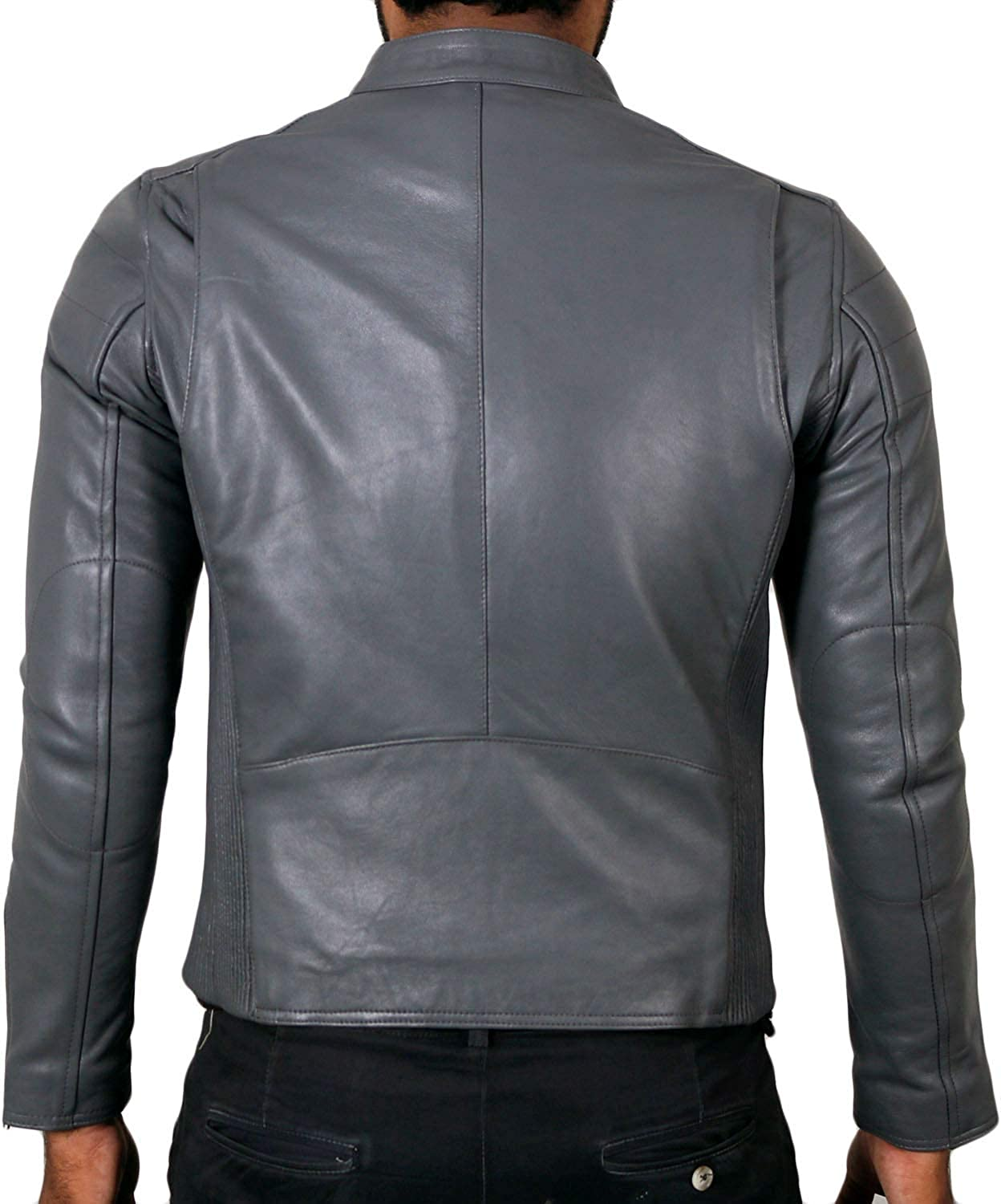1501008 Laverapelle Mens Genuine Lambskin Leather Jacket Black, Biker Jacket