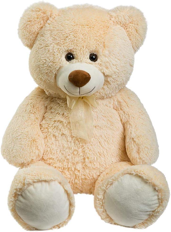 HollyHOME Teddy Bear Plush Giant Teddy Bears Stuffed Animals Teddy Bear Love 36 inch Begie