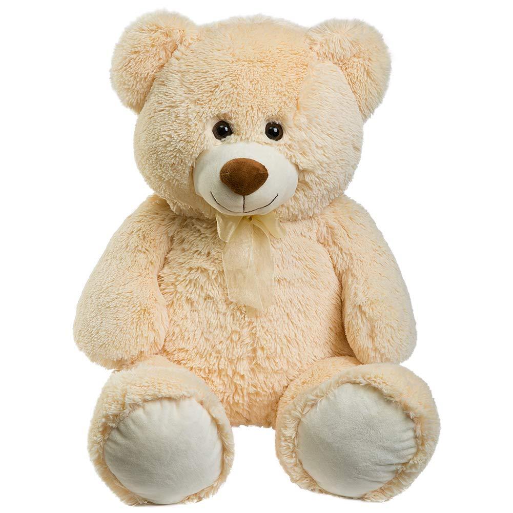 HollyHOME Teddy Bear Plush Giant Teddy Bears Stuffed Animals Teddy Bear Love 36 inch Beige by HollyHOME