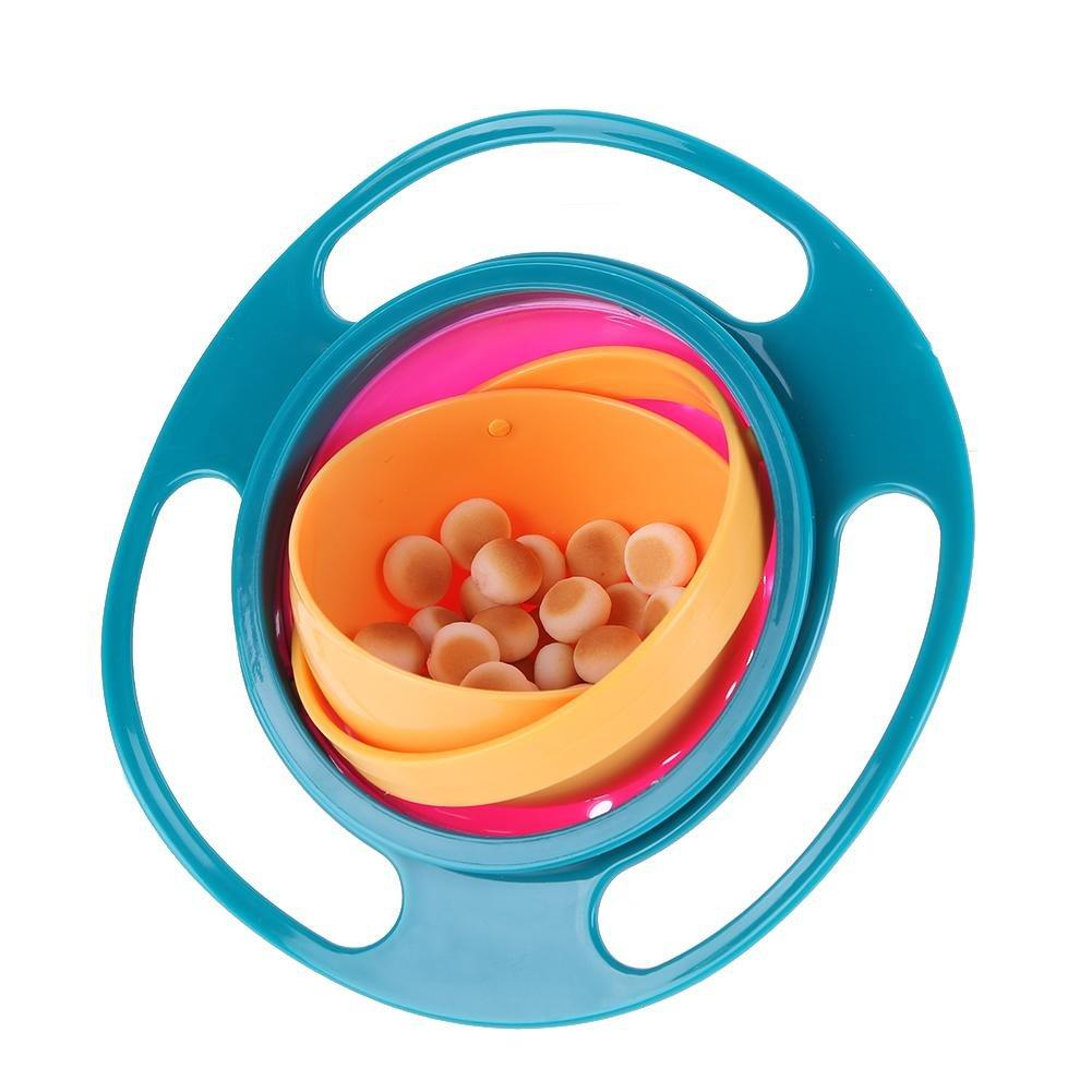 a prueba de derrames Everpert Cuenco giratorio de 360 /° para paraguas de beb/é cuenco de equilibrio para ni/ños rosa rosa