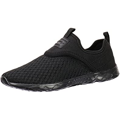 aad6828c1adf ALEADER Men s Slip-on Athletic Water Shoes Black Blk 7 D(M)