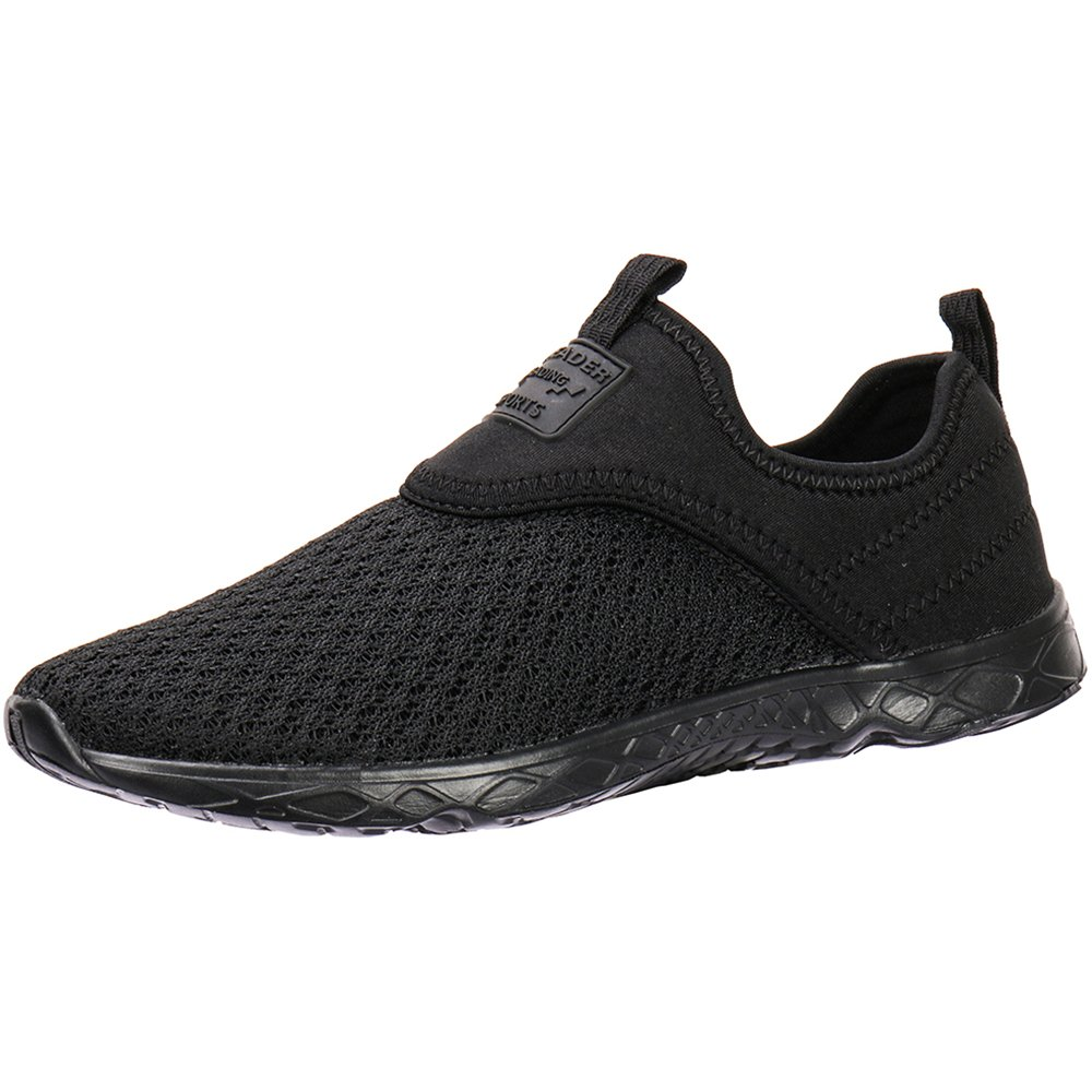ALEADER Men's Slip-on Athletic Water Shoes Black/Blk 10.5 D(M) US by ALEADER