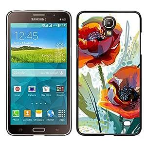 """For Samsung Galaxy Mega 2 Case , Flor de la amapola de la acuarela Naranja Verde"""" - Diseño Patrón Teléfono Caso Cubierta Case Bumper Duro Protección Case Cover Funda"""