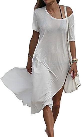 2aec99e933 MLDYGYC Womens Sexy Baggy Swimwear T-Shirt Swimsuit?Bikini Beach Cover Up  Dress (