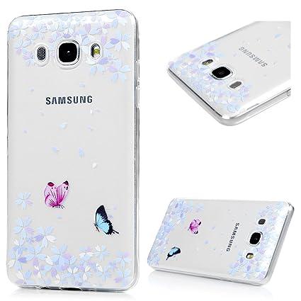 Funda para Samsung Galaxy J7 2016 Silicona TPU, Badalink Carcasa Suave Transparente para Samsung Galaxy J7 2016 Protective Case Cover Resistente al ...