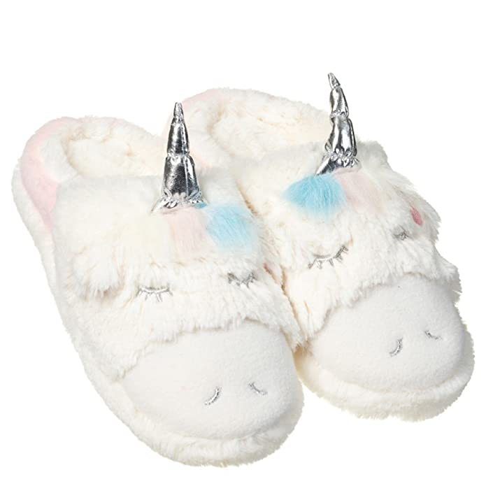 Amazon.com: Señoras/niñas unicornio Pantuflas Súper Suave: Shoes
