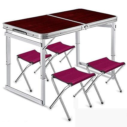 Amazon.com: Hxibog - Mesa de picnic plegable para 4 personas ...