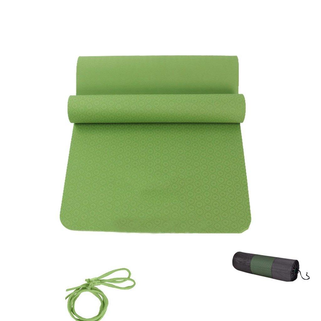 AILI Rutschfeste Yogamatteneignung, gymnastische Gänseblümchenbeschaffenheits-Übungsmatte mit hoher Dichte