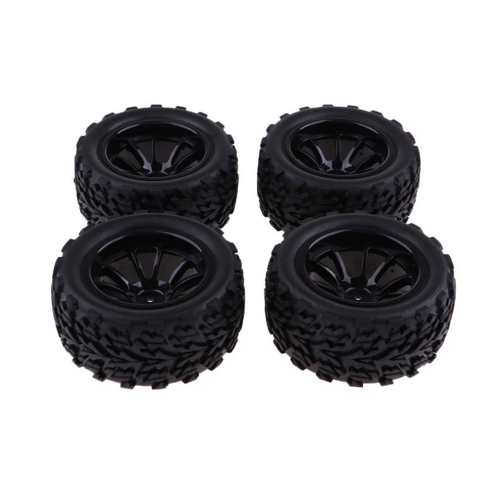 Sharplace 103 mm Neumático de Goma Rueda Color Negro para 1/10 RC Coches Rock Crawler Monster Truck (4 pcs) - A: Amazon.es: Juguetes y juegos