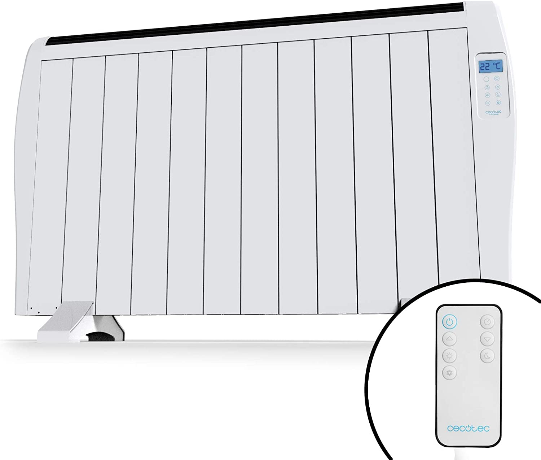Cecotec Emisor Térmico Ready Warm 2500 Thermal. 12 Elementos, 3 Modos de funcionamiento, Temporizador, Mando a Distancia, Pantalla LED, 1800 W