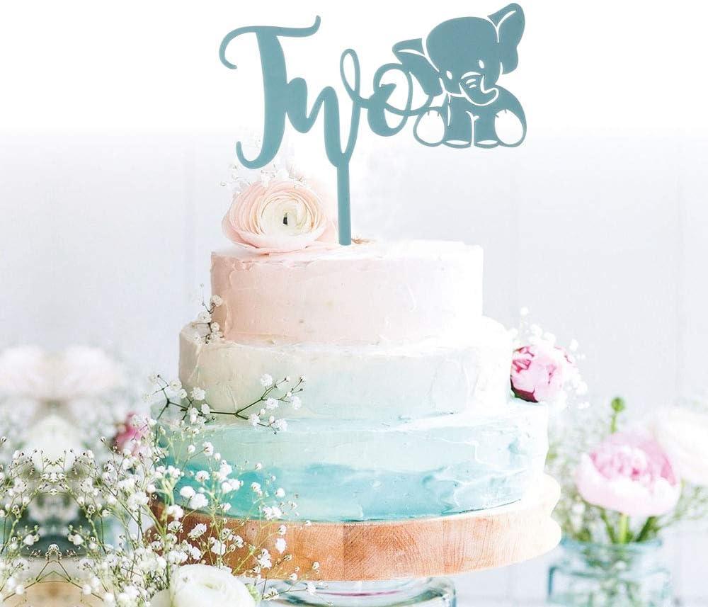 Awesome Amazon Com Grantparty 2Nd Second Blue Elephant Birthday Cake Funny Birthday Cards Online Chimdamsfinfo