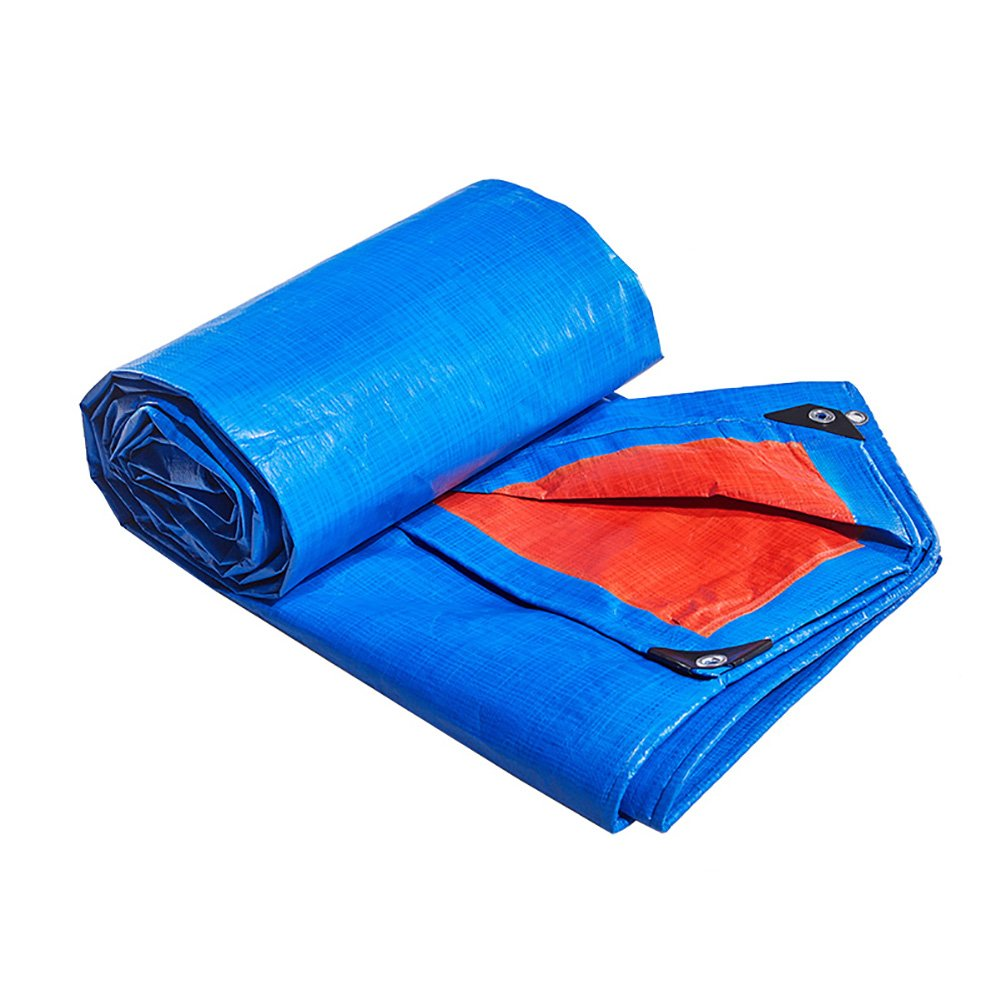 Zeltplanen Multi-Purpose Blau Orange Dual Farbe Wasserdichte Tarp Plane Bodenblechabdeckung Feuerlöschendes Tuch Wasserdichtes Tuch Regendichtes Tuch