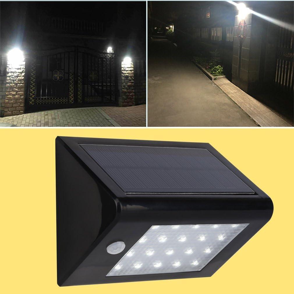 Tsing Foco Solar 20 LED 3.5W Luz solar Exterior Impermeable con ...