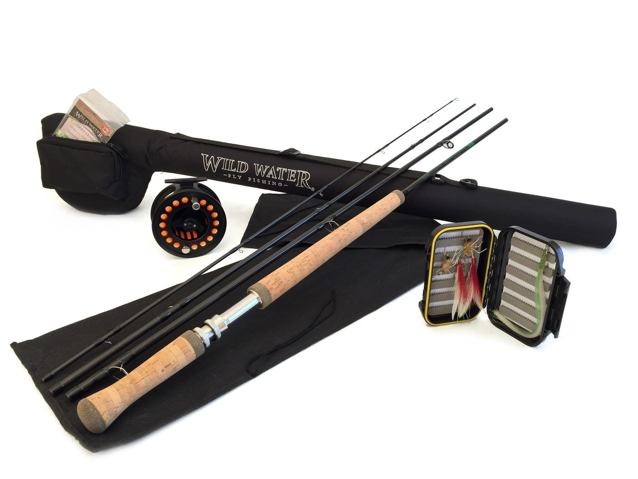 Wild Water Complete 5 Weight Switch Rod Fly Fishing Starter Package for Saltwater