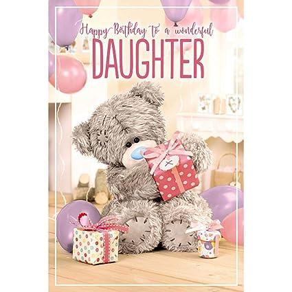 Wonderful Daughter Me to You Tarjeta de cumpleaños ...
