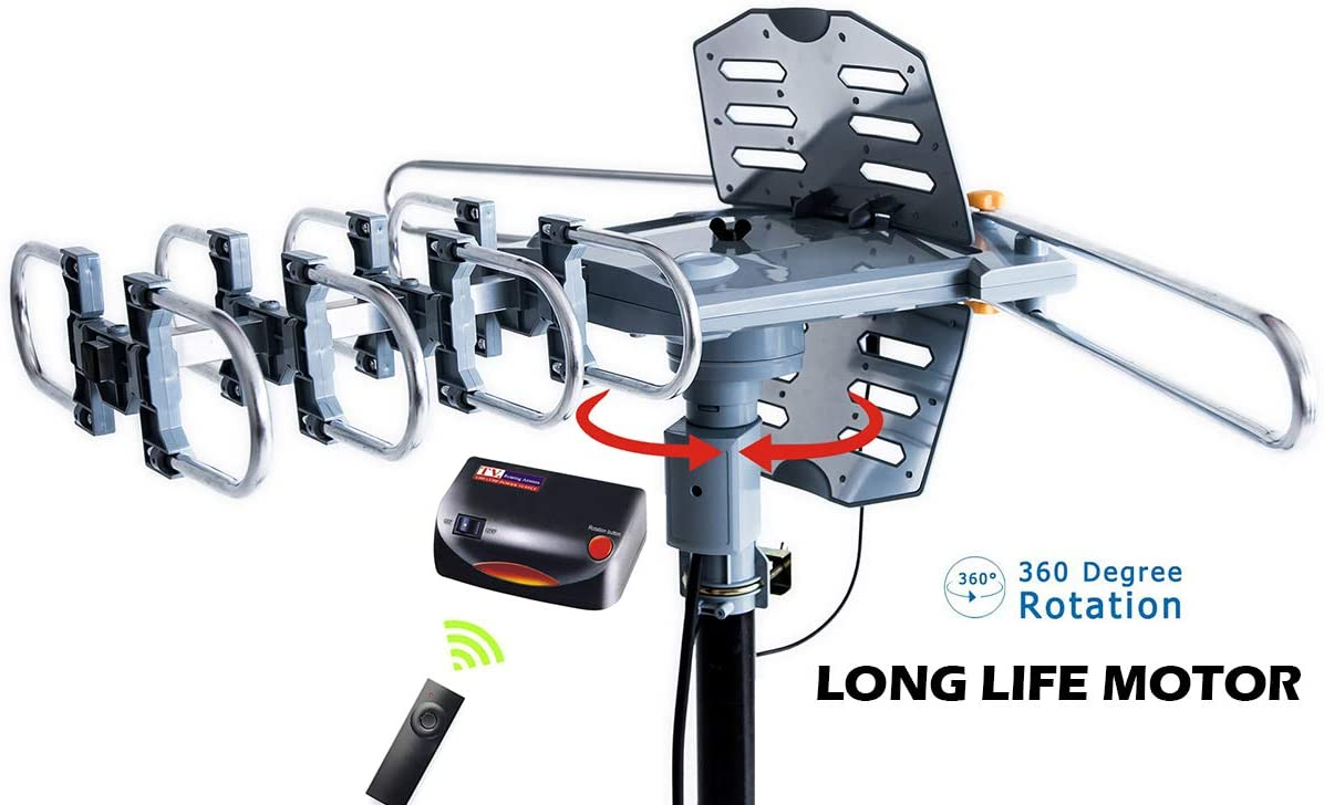 Open Antenna Digital Signal HD Double-head Rotation Outdoor Dovetail Guide Power