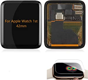 A-MIND for Apple Watch 38mm 42mm Iwatch 1st Aluminum LCD Display Screen Replacement,for 38mm 42mm Iwatch 1st Display LCD Panel Repair with Screen Protector(42mm LCD with Touch)