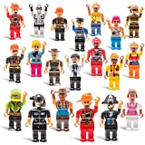 20 Mini Toy Figure Toys Set for Christmas Stocking Stuffers, X-mas Gifts for Kids, Assortment of Boys and Girls Figurines for Birthday Party Favors