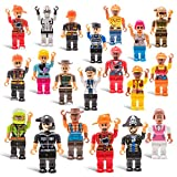 DWS 20 Mini Toy Figure Toys Set for Christmas Stocking Stuffers, X-mas Gifts for Kids, Assortment of Boys and Girls Figurines for Birthday Party Favors