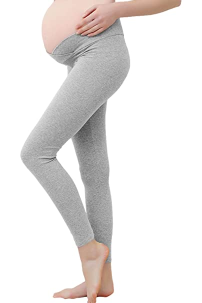 7dcbd7c23c11e Fengstore Maternity Leggings Under The Belly Low Waist Stretch Pregnant  Yoga Pants Grey XL at Amazon Women's Clothing store: