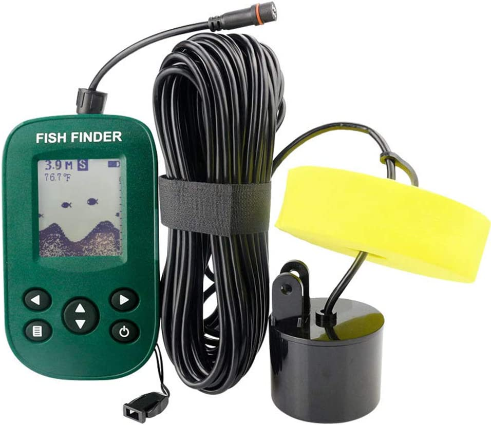 Cableado Sonar Inteligente Pez Descubridor Agua Profundidad Sonar Sensor Transductor LCD de 2.2