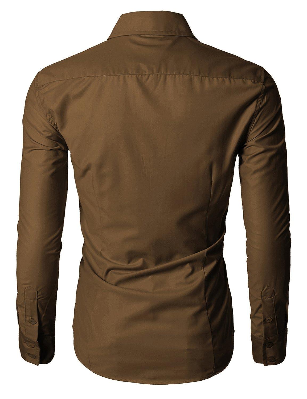 Doublju Men Premium Long Sleeve Shirts Collection