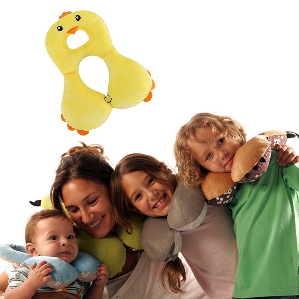 passeggino infantili capo del collo di protezione per la corsa Ferro di cavallo 1-4 anni Bambini Baby Animal poggiatesta e di sostegno del collo Cuscino coniglio bianco seggiolino auto