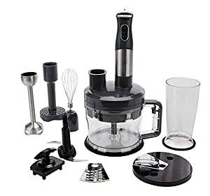 Wolfgang Puck 12-Cup Food Processor with Immersion Blender~ 7-in-1 (Black)