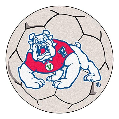 FANMATS NCAA Fresno State Bulldogs Nylon Face Soccer Ball Rug