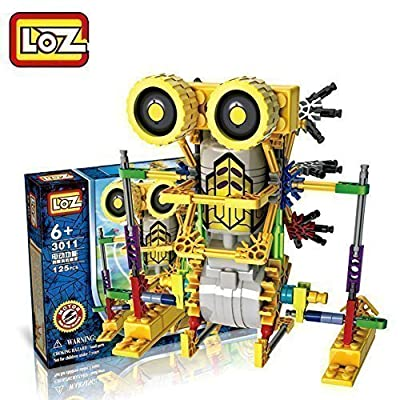 [ Motorial Alien Robot ] LOZ® Robotic Building Set Block Toy ,Battery Motor Operated,3D Puzzle Design Alien Primate Robot Figure for kids and adults , Sturdy Enough , 122 parts(Armor Kangaroo)