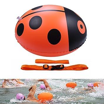 OWUDE Boya de natación nadadores de aguas abiertas - Flotador ligero y visible para un entrenamiento