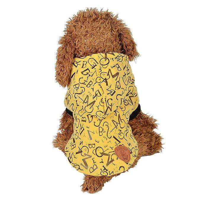 Ropa para Mascotas,Dragon868 Invierno Caliente Carta Perros Mascotas Abrigos de Ropa con Capucha: Amazon.es: Ropa y accesorios