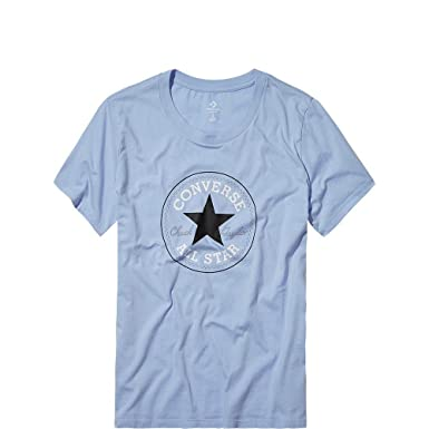 converse tshirt damen blau
