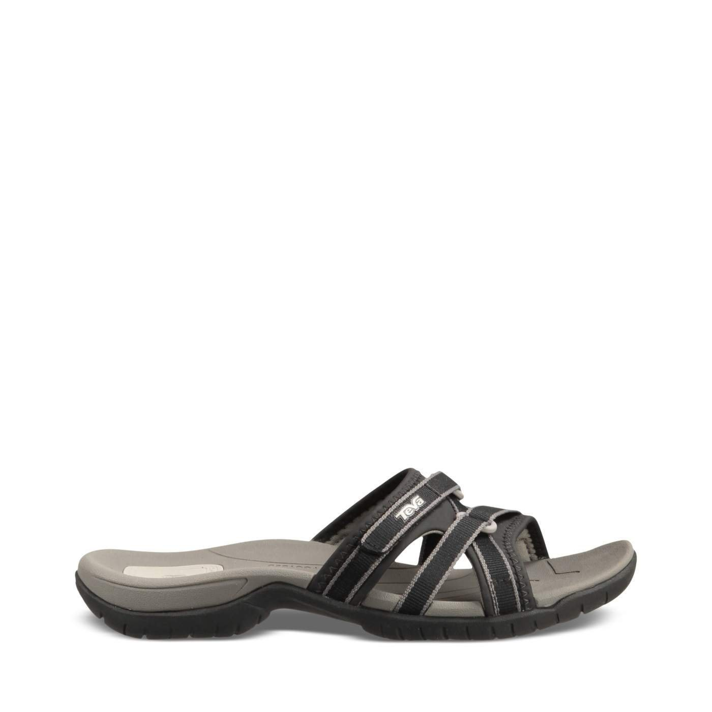 Teva Women's Tirra Slide Sandal,Black,8 M US