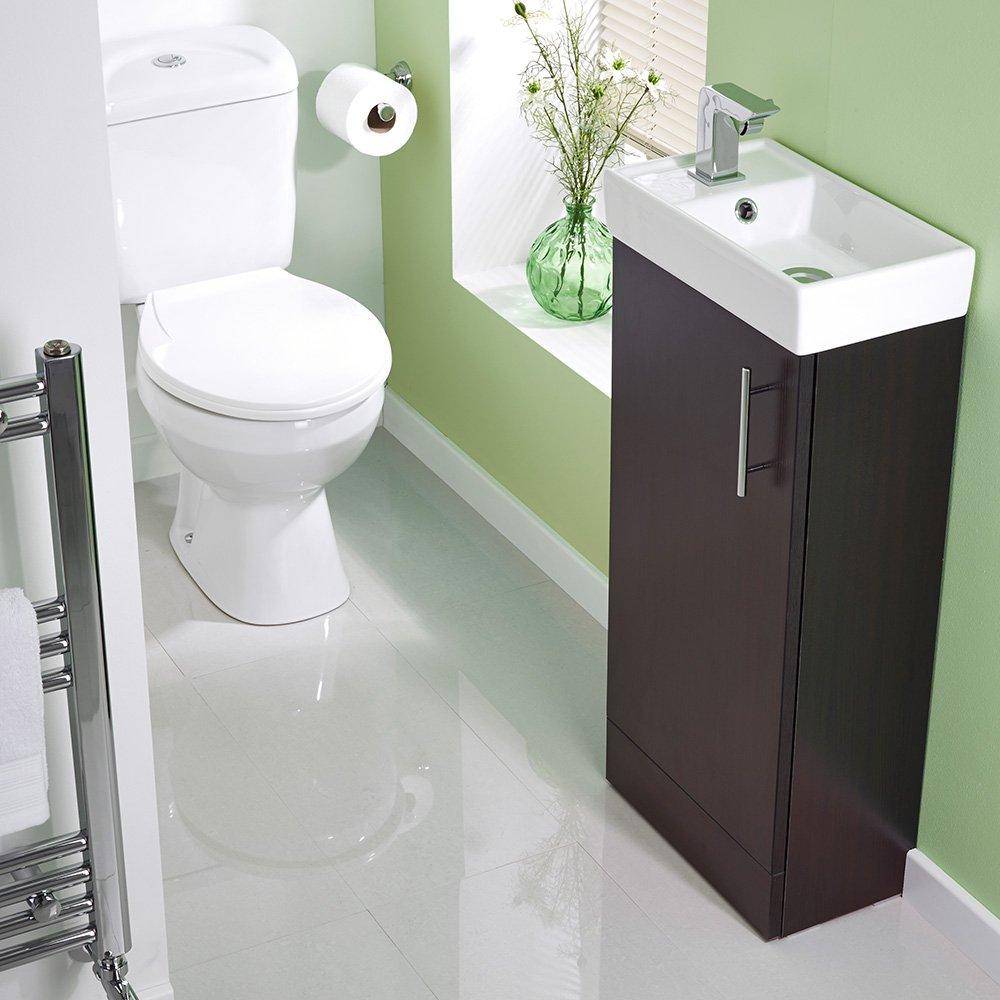 Veebath Sheen Bathroom Cloakroom Ensuite Vanity Unit And Basin  861x400x222mm Ebony Floor Standing,pact & Useful Great Finish:  Amazon: Kitchen &