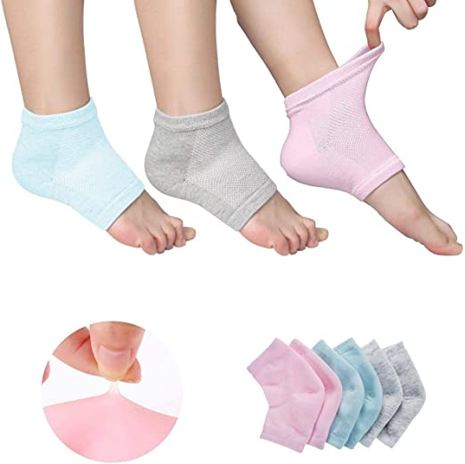 Con ventilación Hidratante Gel talón calcetines dedos abiertos pies cuidado conjuntos Ultimate Tratamiento para secado duro agrietada piel con Spa calidad Botánico Gel Pack de 3 pares: Amazon.es: Hogar