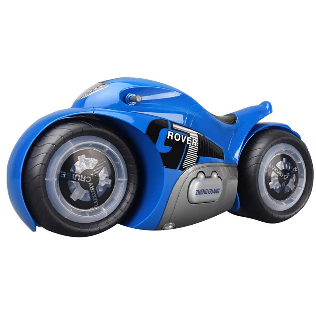 1 12 RC Drift Motorcycles Remote Control Stunt Motorcycle Rear Wheel Drive 360-Degree RC Drift Car High Speed Stunt RC Model Road Bike Motorcycle with Music and Light for Kids & Adults