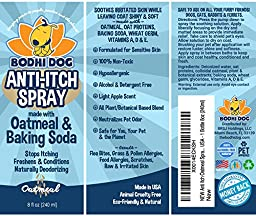 NEW Anti Itch Oatmeal Spray for Dogs and Cats   100% All Natural Hypoallergenic Soothing Relief for Dry, Itchy, Bitten or Allergic Damaged Skin Treatment   Professional Quality - 1 Bottle 8oz (240ml)