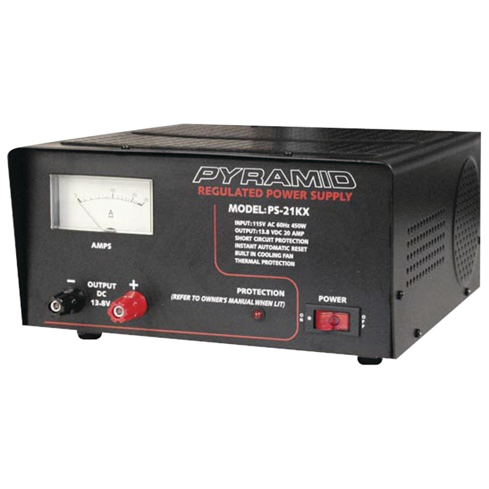 PYRAMID PS21KX 18-Amp Power Supply with Built-in Cooling Fan electronic consumer