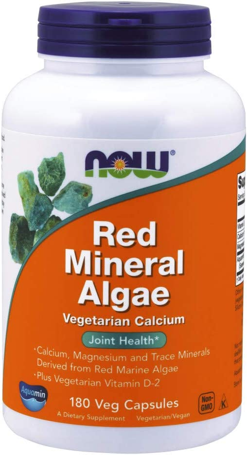 Now Supplements, Red Mineral Algae, 180 Veg Capsules
