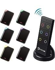 Buscador de Llaves, EIVOTOR Localizador de Llaves Inalámbrico con 6 receptores de RF y Base de Soporte Rastreador de Llaves Localizador Anti-Perdido con Alarma de Sonido de 80dB