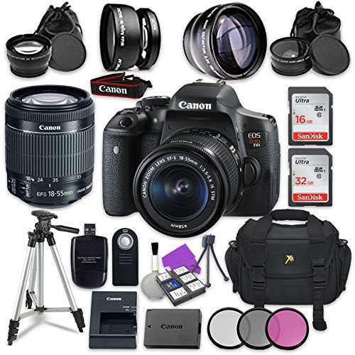 Canon EOS Rebel T6i 24.2MP WiFi Enabled Digital SLR Camera w
