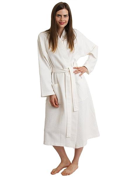 Nouvelles Arrivées f9bd7 1efeb TowelSelections Women's Robe, Kimono Waffle Spa Bathrobe