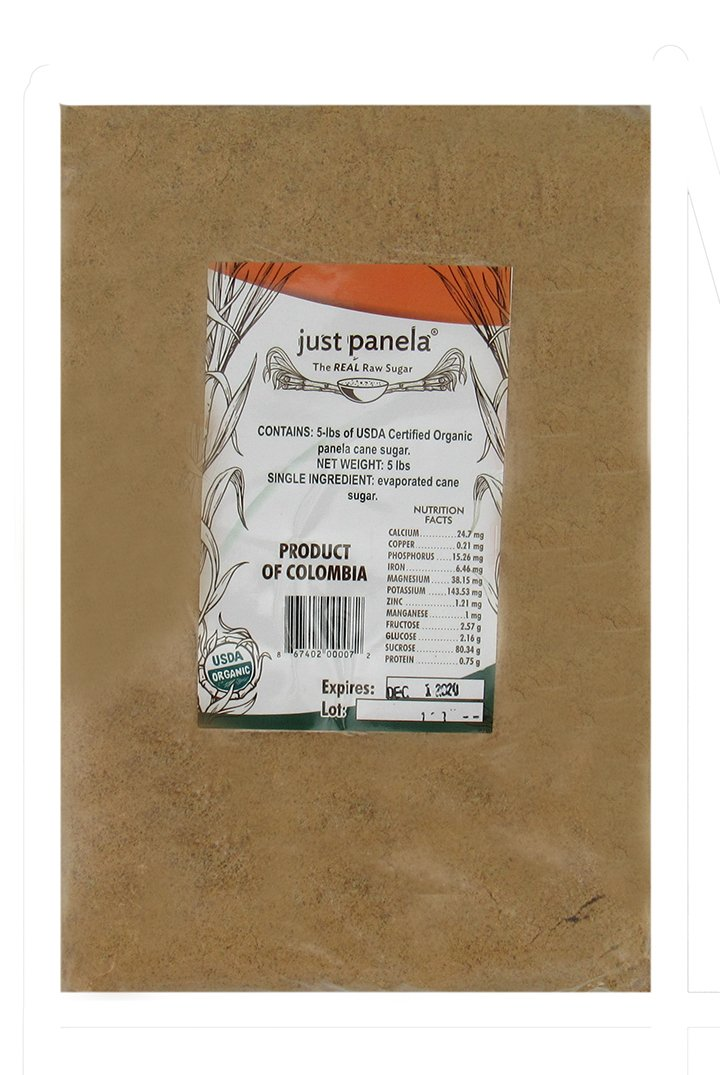 Amazon.com : Just Panela Unrefined and Organic Artisanal Cane Sugar - 5 lb bulk bag : Grocery & Gourmet Food