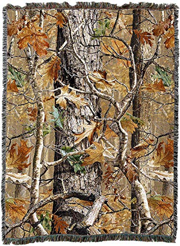 Pure Country Weavers | Oak Woods Camo Lodge Cabin Hunting Decor Woven Tapestry Throw Blanket with Fringe Cotton USA Cotton ()