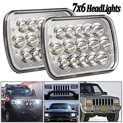 2Pcs Mayuber 45w Rectangular Led Headlights 7/'/'x6/'/' Hi//Low Led Sealed Beam 5x7 Led Headlights for Jeep Wrangler YJ Cherokee XJ Trucks 4X4 Offroad Headlamp Replacement H6054 H5054 H6054LL 69822 6052 60