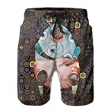 Cute Brown Bear Wearing A Doll Clothing Swim Trunks Quick Dry Beach Board Shorts Men Pants Household Shorts